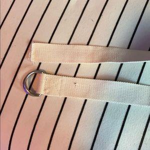 kids cream color adjustable belt